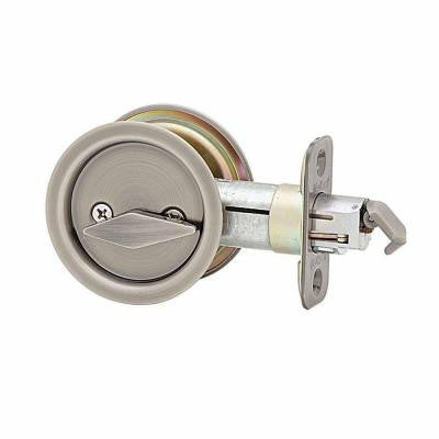 Profile View of Door Lock Molding, product number Kwikset Ultramax Round Pocket Passage Door Lock/Antique Nickel - $20.00 sold by American Wood Moldings
