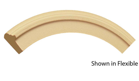 "Profile view of a flexible MDF Back Band molding, product number FRBB110 7/8"" x 1-5/16"" - $5.20/ft. sold by American Wood Moldings"