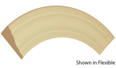 "Profile View of Flexible Casing Molding, product number CA-208-020-1-FL - 5/8"" x 2-1/4"" Smooth Urethane Flexible Casing - $7.03/ft sold by American Wood Moldings"