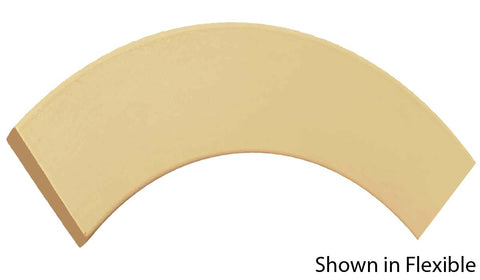 "Profile View of Flexible Casing Molding, product number CA-216-018-1-FL - 9/16"" x 2-1/2"" Smooth Urethane Flexible Casing - $7.77/ft sold by American Wood Moldings"