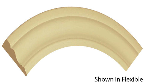 "Profile View of Flexible Casing Molding, product number CA-224-020-1-FL - 5/8"" x 2-3/4"" Smooth Urethane Flexible Casing - $7.44/ft sold by American Wood Moldings"