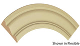 "Profile view of a flexible MDF Casing molding, product number FRCA305 5/8"" x 3"" - $8.07/ft. sold by American Wood Moldings"
