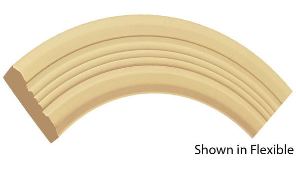 "Profile view of a flexible MDF Casing molding, product number FRCA320 3/4"" x 3"" - $13.01/ft. sold by American Wood Moldings"