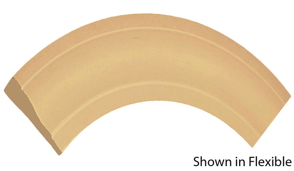 "Profile view of a flexible MDF Casing molding, product number FRCA323 5/8"" x 3-1/4"" - $10.30/ft. sold by American Wood Moldings"