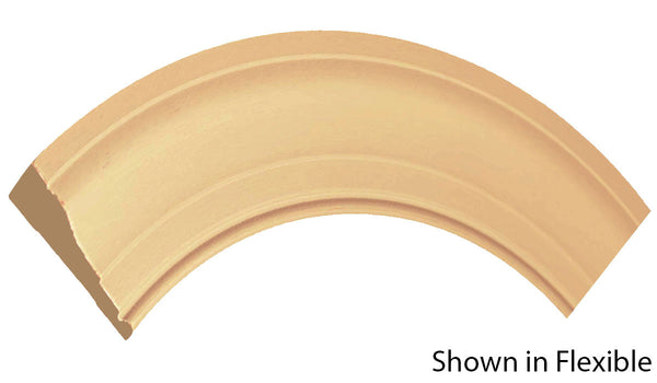 "Profile view of a flexible MDF Casing molding, product number FRCA326 11/16"" x 3-1/4"" - $11.44/ft. sold by American Wood Moldings"