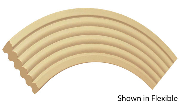 "Profile view of a flexible MDF Casing molding, product number FRCA328 9/16"" x 3-3/8"" - $14.30/ft. sold by American Wood Moldings"