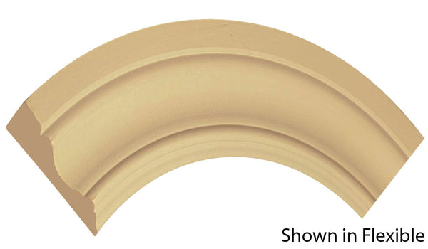 "Profile View of Flexible Casing Molding, product number CA-316-022-1-FL - 11/16"" x 3-1/2"" Smooth Urethane Flexible Casing - $13.69/ft sold by American Wood Moldings"