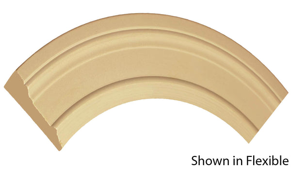 "Profile view of a flexible MDF Casing molding, product number FRCA350 11/16"" x 3-1/2"" - $13.69/ft. sold by American Wood Moldings"