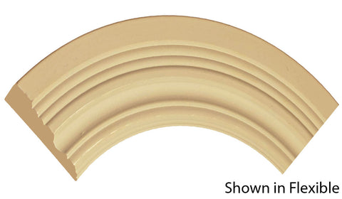 "Profile view of a flexible MDF Casing molding, product number FRCA360 3/4"" x 3-1/2"" - $13.69/ft. sold by American Wood Moldings"