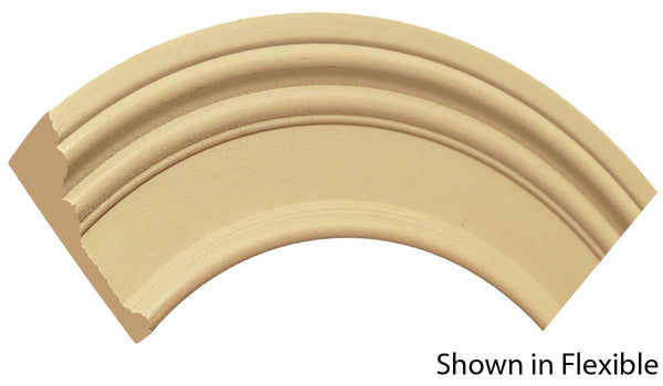"Profile View of Flexible Casing Molding, product number CA-316-100-1-FL - 1"" x 3-1/2"" Smooth Urethane Flexible Casing - $12.53/ft sold by American Wood Moldings"
