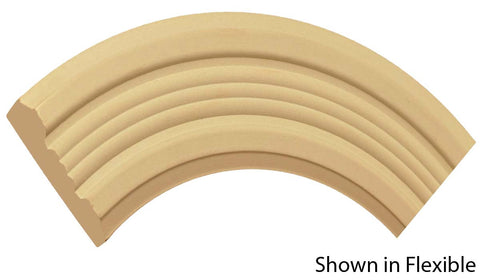 "Profile view of a flexible MDF Casing molding, product number FRCA370 3/4"" x 3-7/8"" - $14.42/ft. sold by American Wood Moldings"