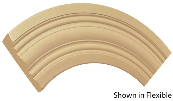 "Profile view of a flexible MDF Casing molding, product number FRCA410 3/4"" x 4-7/8"" - $19.99/ft. sold by American Wood Moldings"