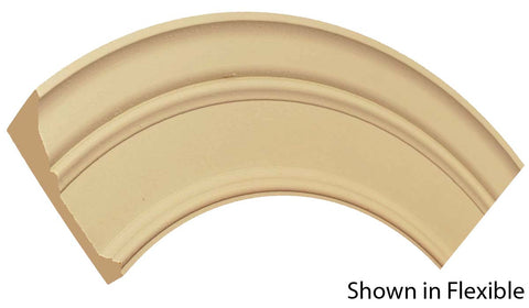 "Profile view of a flexible MDF Casing molding, product number FRCA610 1-3/16"" x 6-1/4"" - $33.72/ft. sold by American Wood Moldings"