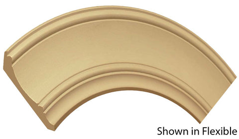 "Profile View of Flexible Crown Molding, product number CR-508-022-1-FL - 11/16"" x 5-1/4"" Smooth Urethane Flexible Crown - $18.11/ft sold by American Wood Moldings"
