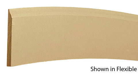 "Profile View of Flexible Base Molding, product number BA-308-016-1-FL - 1/2"" x 3-1/4"" Smooth Urethane Flexible Base - $8.93/ft sold by American Wood Moldings"