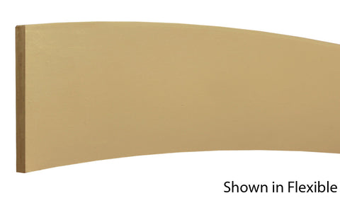 "Profile View of Flexible Base Molding, product number BA-408-014-1-FL - 7/16"" x 4-1/4"" Smooth Urethane Flexible Base - $12.16/ft sold by American Wood Moldings"