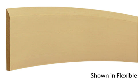 "Profile View of Flexible Base Molding, product number BA-408-016-1-FL - 1/2"" x 4-1/4"" Smooth Urethane Flexible Base - $13.92/ft sold by American Wood Moldings"