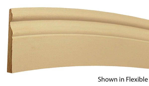 "Profile view of a flexible MDF Base molding, product number FSBA440 5/8"" x 4-1/4"" - $16.69/ft. sold by American Wood Moldings"