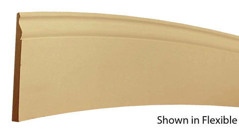 "Profile View of Flexible Base Molding, product number BA-508-020-2-FL - 5/8"" x 5-1/4"" Smooth Urethane Flexible Base - $18.02/ft sold by American Wood Moldings"