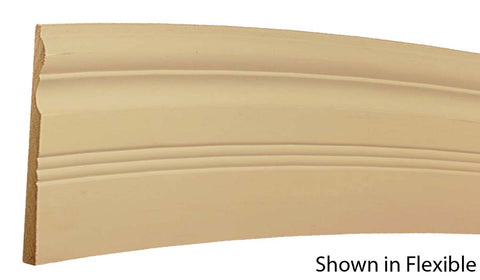 "Profile View of Flexible Base Molding, product number BA-616-020-1-FL - 5/8"" x 6-1/2"" Smooth Urethane Flexible Base - $20.71/ft sold by American Wood Moldings"