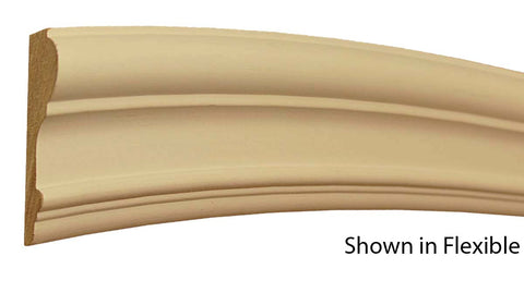 "Profile view of a flexible MDF Chair Rail molding, product number FSCH320 1"" x 3-3/16"" - $13.36/ft. sold by American Wood Moldings"