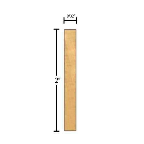 "Side View of Decorative Carved Molding, product number DC-200-009-1-MA - 9/32"" x 2"" Maple Decorative Carved Molding - $9.88/ft sold by American Wood Moldings"