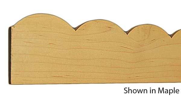 "Profile view of a decorative maple carved molding, product number MADC255 1/4""x2-1/4"" Maple $11.12/ft. sold by American Wood Moldings"