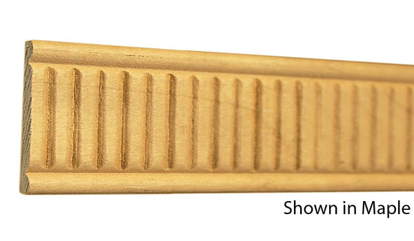 "Profile View of Decorative Embossed Molding, product number DE-124-008-1-MA - 1/4"" x 1-3/4"" Maple Decorative Embossed Molding - $5.04/ft sold by American Wood Moldings"