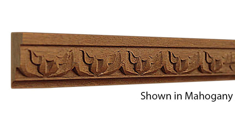 "Profile view of a decorative mahagony carved molding, product number MHDC115 1/2""x1-3/16"" Mahogany $5.88/ft. sold by American Wood Moldings"