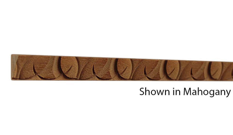 "Profile View of Decorative Carved Molding, product number DC-020-020-2-HMH - 5/8"" x 5/8"" Honduras Mahogany Decorative Carved Molding - $3.08/ft sold by American Wood Moldings"