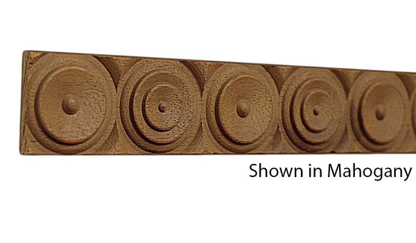 "Profile view of a decorative mahagony carved molding, product number MHDC165 5/16""x1-1/4"" Mahogany $6.20/ft. sold by American Wood Moldings"