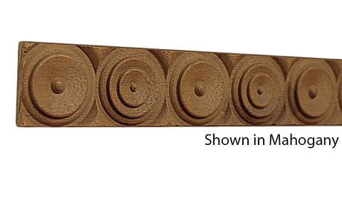 "Profile View of Decorative Carved Molding, product number DC-108-010-3-HMH - 5/16"" x 1-1/4"" Honduras Mahogany Decorative Carved Molding - $6.20/ft sold by American Wood Moldings"