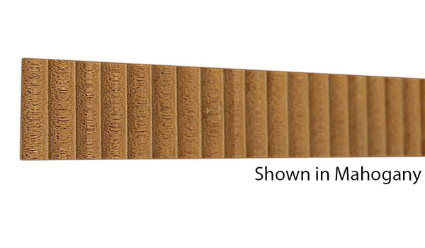 "Profile view of a decorative mahagony carved molding, product number MHDC235 3/16""x1-1/4"" Mahogany $6.20/ft. sold by American Wood Moldings"