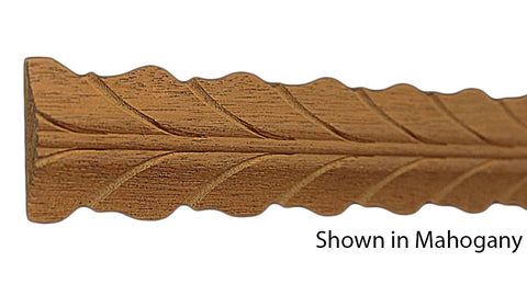 "Profile View of Decorative Carved Molding, product number DC-118-010-1-HMH - 5/16"" x 1-9/16"" Honduras Mahogany Decorative Carved Molding - $7.72/ft sold by American Wood Moldings"
