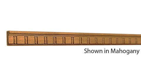 "Profile View of Decorative Embossed Molding, product number DE-016-008-1-HMH - 1/4"" x 1/2"" Honduras Mahogany Decorative Embossed Molding - $1.44/ft sold by American Wood Moldings"