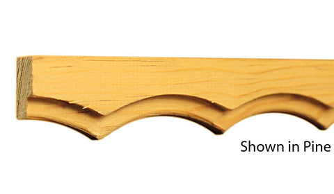 "Profile view of a decorative pine carved molding, product number PIDC175 1/2""x1-1/16"" Pine $3.36/ft. sold by American Wood Moldings"