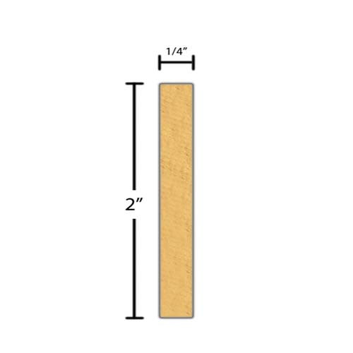 "Side view of a decorative pine dentil molding, product number PIDD135 1/4""x2"" Pine $3.72/ft. sold by American Wood Moldings"