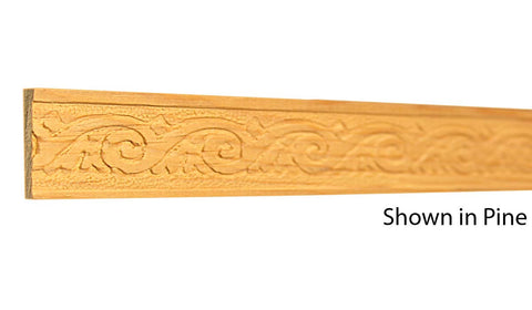 "Profile View of Decorative Embossed Molding, product number DE-104-008-1-CP - 1/4"" x 1-1/8"" Clear Pine Decorative Embossed Molding - $2.08/ft sold by American Wood Moldings"