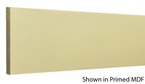 "Profile view of a MDF Base molding, product number PMBA403 7/16"" x 4-1/4"" - $0.68/ft. sold by American Wood Moldings"