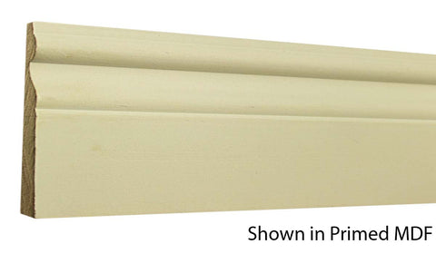 "Profile view of a MDF Base molding, product number PMBA440 5/8"" x 4-1/4"" - $1.16/ft. sold by American Wood Moldings"