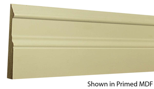 "Profile view of a MDF Base molding, product number PMBA510 5/8"" x 5"" - $0.96/ft. sold by American Wood Moldings"