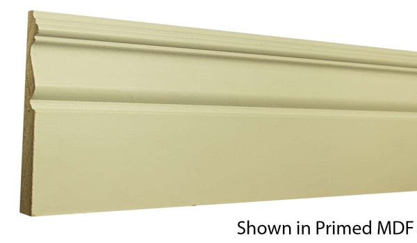 "Profile View of Base Molding, product number BA-508-020-1-PM - 5/8"" x 5-1/4"" Primed MDF Base - $1.04/ft sold by American Wood Moldings"