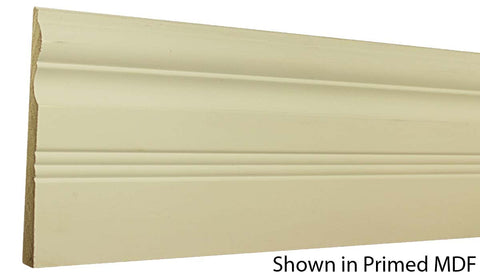 "Profile View of Base Molding, product number BA-616-020-1-PM - 5/8"" x 6-1/2"" Primed MDF Base - $1.41/ft sold by American Wood Moldings"