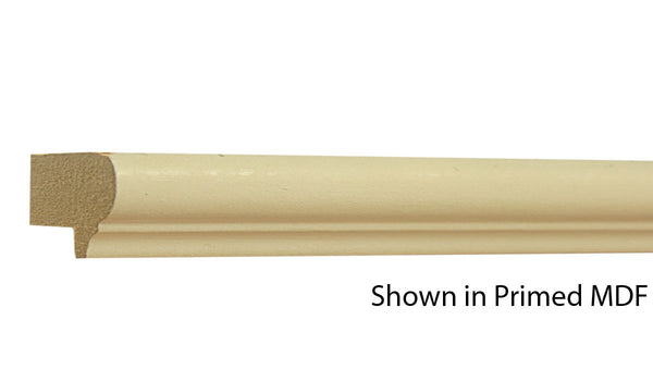 "Profile view of a MDF Cap molding, product number PMBB110 7/8"" x 1-5/16"" - $0.76/ft. sold by American Wood Moldings"