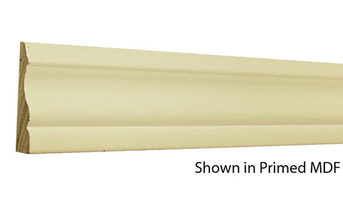 "Profile view of a MDF Casing molding, product number PMCA220 5/8""x2-3/4"" $0.64/ft. sold by American Wood Moldings"