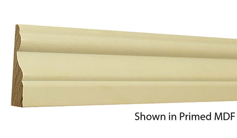 "Profile view of a MDF Casing molding, product number PMCA225 11/16""x2-3/4"" $0.80/ft. sold by American Wood Moldings"
