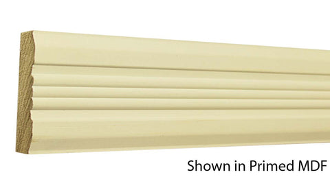 "Profile view of a flexible MDF Chair Rail molding, product number PMCA320 3/4""x3"" $1.80/ft. sold by American Wood Moldings"