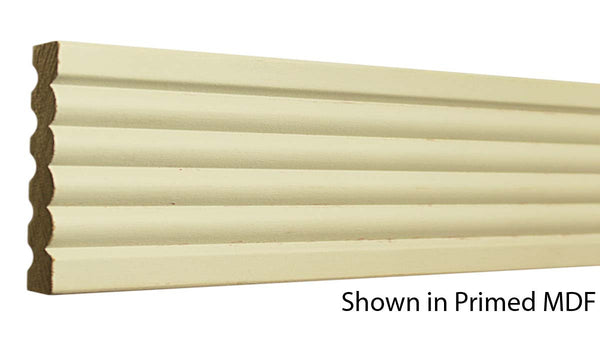 "Profile view of a MDF Casing molding, product number PMCA328 9/16""x3-3/8"" $0.96/ft. sold by American Wood Moldings"