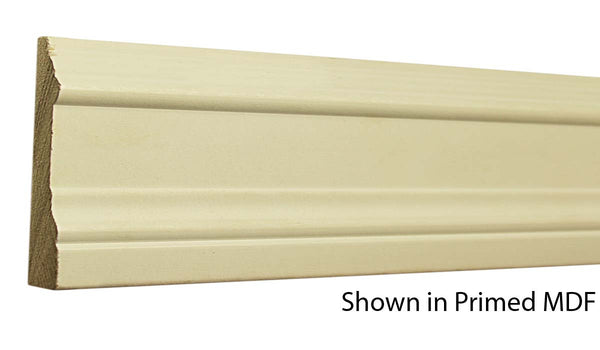 "Profile view of a MDF Casing molding, product number PMCA350 11/16""x3-1/2"" $0.76/ft. sold by American Wood Moldings"