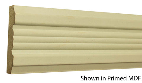"Profile view of a MDF Chair Rail molding, product number PMCA370 3/4""x3-7/8"" $2.32/ft. sold by American Wood Moldings"